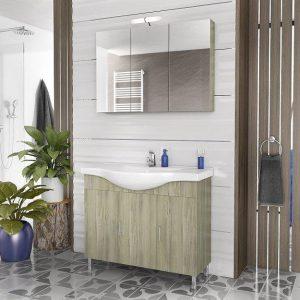 Έπιπλο μπάνιου ALBA 100 Elm Wood
