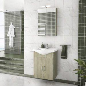 Έπιπλο μπάνιου ALBA 55 Elm Wood Κρεμαστό