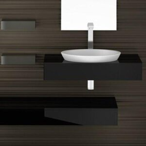 Glass Design Circus 43 FL Italian Modern Semi Recessed Wash Basin Ø42