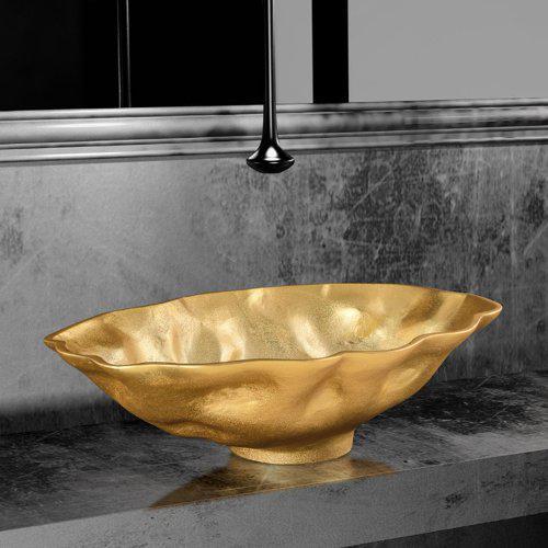 Νιπτήρας Μπάνιου Οβάλ Norite Glass Design