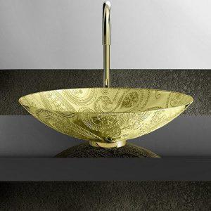 Νιπτήρας Μπάνιου Arabasque Lux Στρογγυλός
