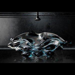 Νιπτήρας Μπάνιου Arte Quattro Γυάλινος Επιτραπέζιος