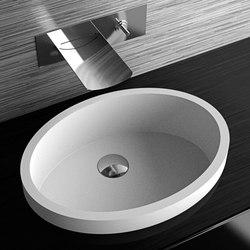 Glass Design Ellisse XL FL Italian Modern Semi Recessed Wash Basin 55x41 cm