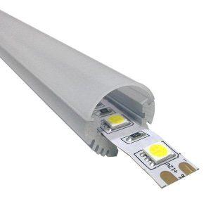 Εξωτερικό Στρογγυλό Κρεμαστό Προφίλ Αλουμινίου Milky Cover για Ταινία LED