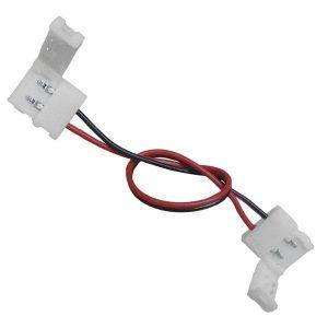 Διπλός Connector 10mm 15cm Για Ταινία LED 7.2 & 14.4 Watt