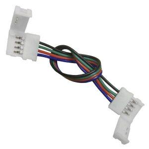 Διπλός Connector 10mm 15cm Για Ταινία LED RGB 7.2 & 14.4 Watt
