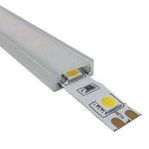 Επιτοίχιο Προφίλ Αλουμινίου Milky Cover για ταινίες LED