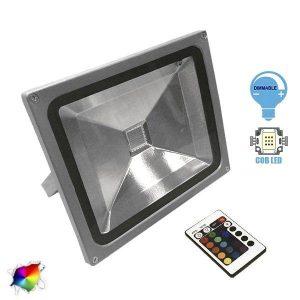 Προβολέας LED 30Watt, 230V, 180°, RGB με Ασύρματο Χειριστήριο
