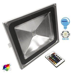 Προβολέας LED 50Watt, 230V, 180°, RGB με Ασύρματο Χειριστήριο