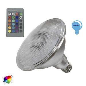 Λάμπα LED PAR38 E27 18 Watt, 230V, 300°, RGB με Ασύρματο Χειριστήριο