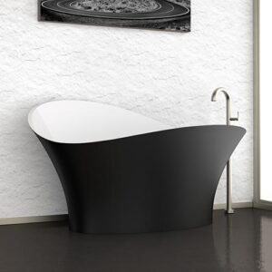 Glass Design Flower Style Free Standing Mondern Bathtub 175x79 cm