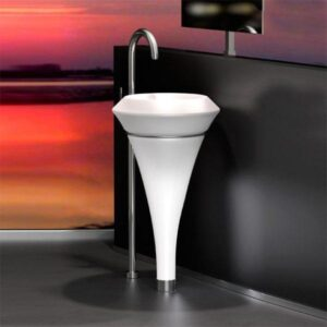 White Washbasin Freestanding ISOLA