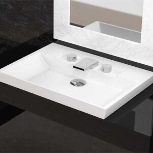 Glass Design Italy FL Modern Italian Luxury Semi Recessed Basin 72x52 cm