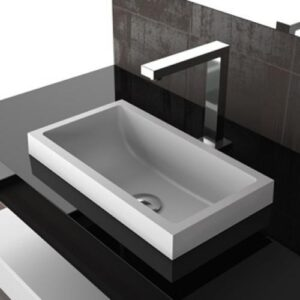 Glass Design Kosta 1 Modern Italian Luxury Semi Recessed Basin 45x25 cm
