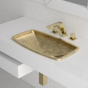 Glass Design Kosta 2 Italian Modern Rectangular Inset Wash Basin 57x33 cm