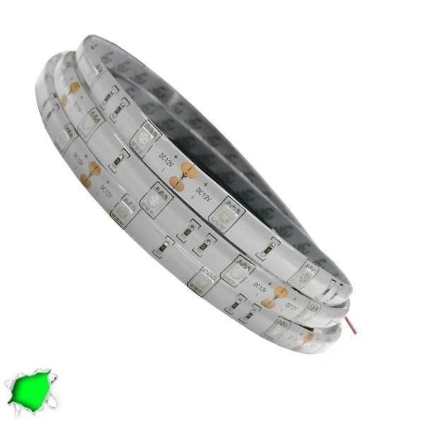 Αδιάβροχη LED Ταινία Πράσινη 5 Μέτρα 7,2 Watt/m 12 Volt
