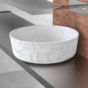 White round countertop wash basin Luna Katino