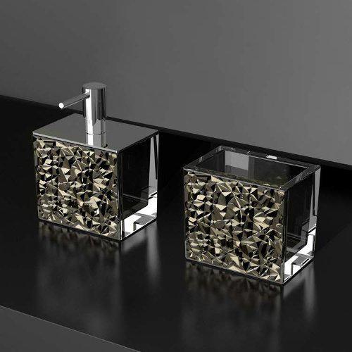 Σετ Αξεσουάρ Μπάνιου Colori Lux Ποτηροθήκη+Dispenser
