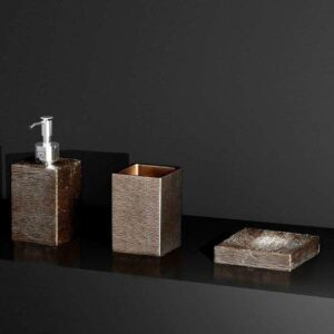 Glass Design Metropole Luxury Modern 3 Piece Bathroom Accessories Set