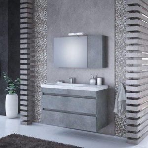 Έπιπλο μπάνιου Luxus 100 Wood & Granite Κρεμαστό