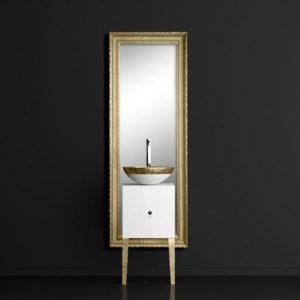 Έπιπλο μπάνιου MONNALISA CLASS+FILIGRANA Gold νιπτήρας