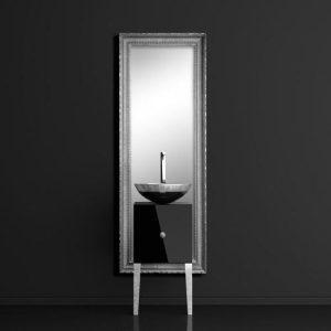 Monnalisa Class Silver Έπιπλο Μπάνιου με Καθρέπτη & Filigrana Νιπτήρα