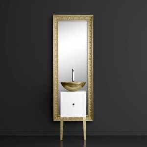 Έπιπλο μπάνιου MONNALISA FLORENCE+MOSAIC Gold νιπτήρας