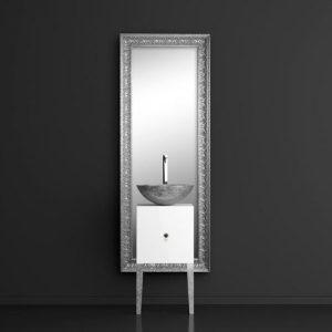 Έπιπλο μπάνιου MONNALISA FLORENCE με νιπτήρα MOSAIC Silver