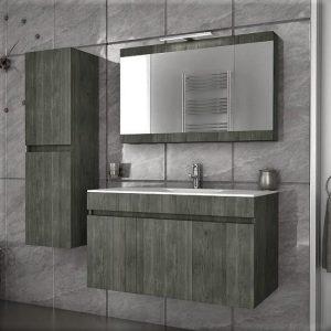Έπιπλο μπάνιου Magnolia 90 Gold & Smoked Κρεμαστό