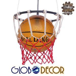 NBA 01027 Μοντέρνο Κρεμαστό Φωτιστικό Μονόφωτο Μπάλα Μπάσκετ