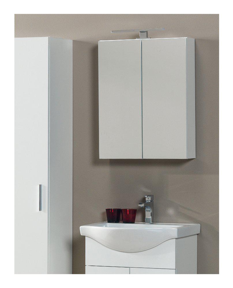 Floor Standing Bathroom Furniture Siena White Set - FloBaLi