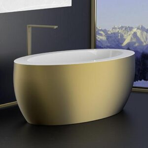 Glass Design PARADISO Luxury Oval Free Standing Bathtub 175x85 cm