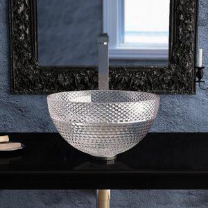 Counter top Clear wash basin Ramada Glass Design