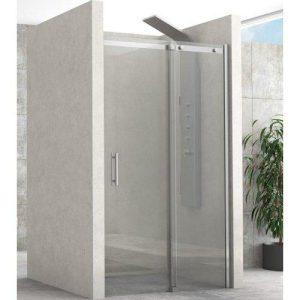 Rigel 500 Καμπίνα Ντουζιέρας Τοίχο Τοίχο με Μια Συρόμενη Πόρτα