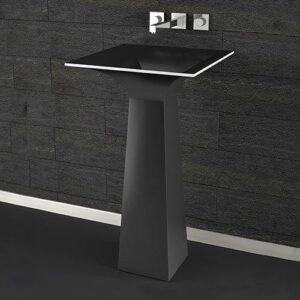 Black Freestanding Washbasin ROMA Alto