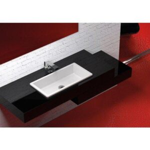 Glass Design RX Italian Modern Rectangular Inset Basin, 4 Colors, 61x30 cm