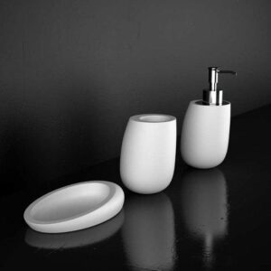 Glass Design Kleiss Luxury Modern 3 Piece Bathroom Accessories Set