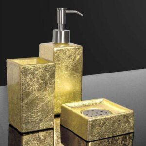 Glass Design Luxury Italian Modern 3 Piece Bathroom Accessories Set