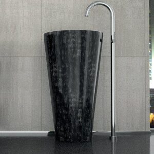 Silver Black Freestanding Washbasin TOM TOM