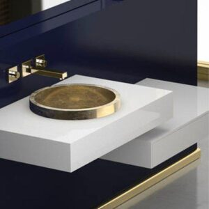 Glass Design Tondo FL Modern Italian Luxury Semi Recessed Basin Ø38