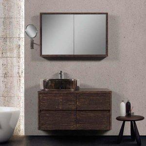 Nova New Vintage Έπιπλο Μπάνιου με Συρτάρια Σετ 100 cm