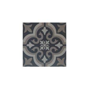 Antigue Black Vintage Patchwork Πλακάκι με Σχέδια 33χ33 cm