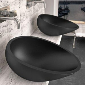 Glass Design Air Italian Modern Oval Countertop Wash Basin 51x34 cm