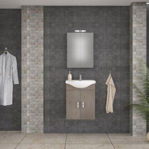 Έπιπλο μπάνιου ALBA 55 Καφέ Κρεμαστό