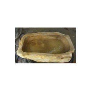 Πέτρινος Νιπτήρας με Απολιθωμένο Ξύλο Brown 15