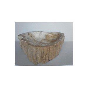 Πέτρινος Νιπτήρας με Απολιθωμένο Ξύλο Brown 16