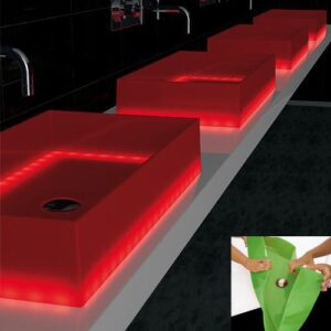 Counter Top Washbasin Barchetta Light Rectangular