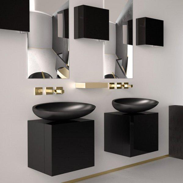 . Glass Design Cubus Italian Modern Square Bathroom Furniture  4 Colors   40 40 cm