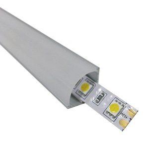 Γωνιακό Προφίλ Αλουμινίου 90° Επιτοίχιο Milky Cover για ταινίες LED