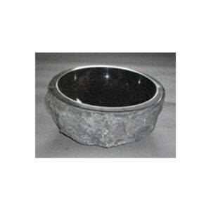 Πέτρινος Νιπτήρας Rotonda Marble Nero